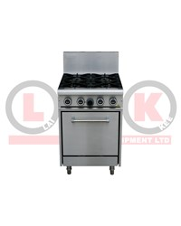 LKK 4 OPEN BURNER WITH STATIC OVEN