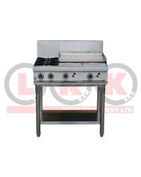 LKK 2 OPEN BURNER WITH 600mm GRIDDLE