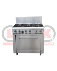 LKK 6 OPEN BURNER WITH STATIC OVEN